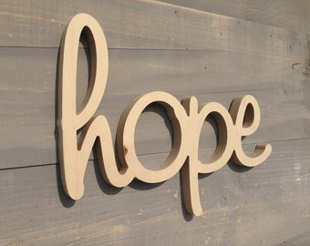 Hope - Hope Sign - Wood Hope Sign - Hope  Wood Sign Wall Hanging