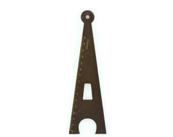 WOOD EIFFEL TOWER Ruler - 15cm Black Wood Eiffel Tower Ruler  (19.5cm x 6cm)