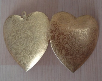 Heart Photo Locket Gold Tone