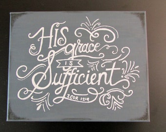 Canvas Painting - His Grace is Suffificient