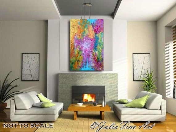 Purple Abstract Painting Print Lilac Art Pink by