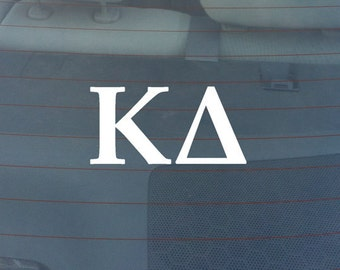 "KAPPA DELTA Sorority Sticker Window Laptop Car Decal Vinyl Ipad Iphone 3"" 6"" 8"""