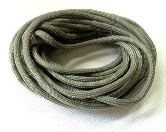 Army Grey 100% Nylon Parachute Cording - 15 Feet