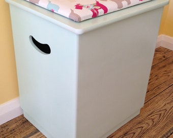 Refurbished bathroom box with scotty dog fabric top.