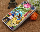 iPhone 5 Case Beauty and the beast iphone4 case flower iPhone 5 Cover floral case iphone 4s case