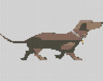 Daschshund Hound Cross Stitch Pattern