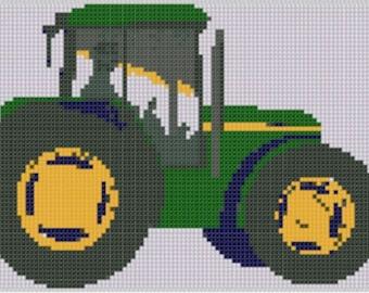 Tractor Cross Stitch Pattern