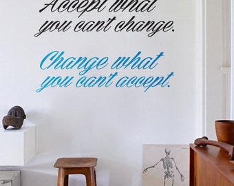 Quote Wall decal - Lettering Home Office  wall decor - Q004