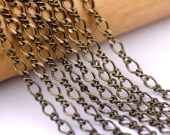 2.5mm Antique Bronze Plated Brass Chain Vintaged Link Chains rc103(4ft)