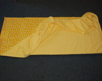 Custom Embroiddered Rest Mat Cover with Attached Blanket