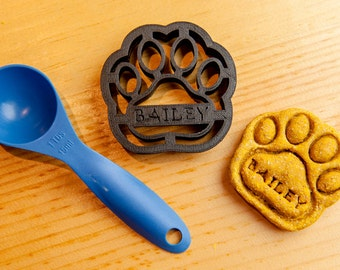 Dog Paw Cookie Cutter Custom Treat Personalized Pet Medium