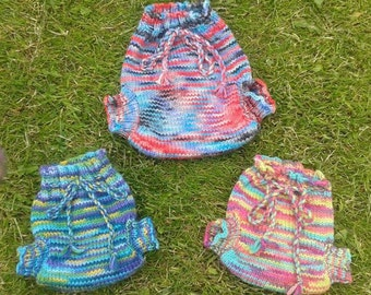 Wool nappy cover **Made to Order** base nappy soaker, wool wrap, cloth nappy, cloth diaper cover, hand knitted, prem tiny baby clothes