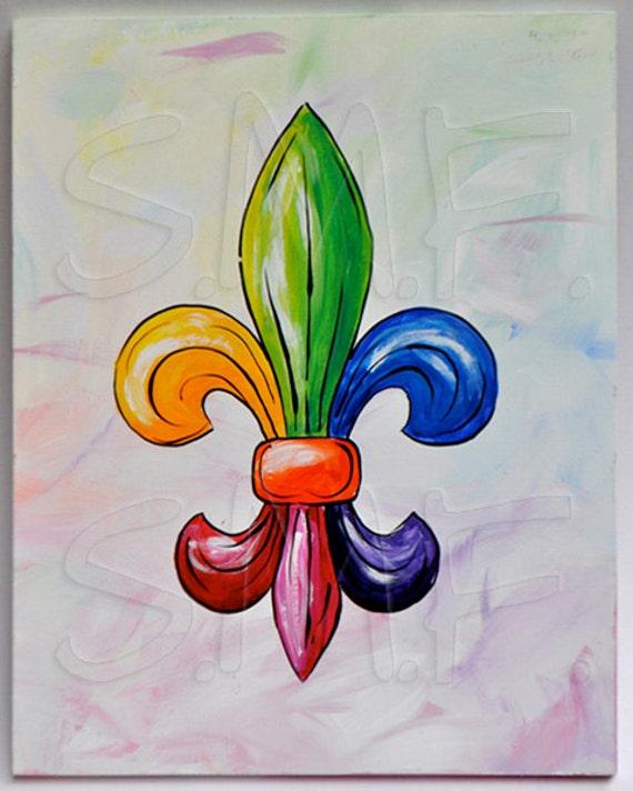 fleur de lis painting