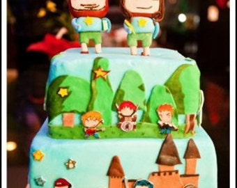 Scribblenauts Inspired Gumpaste Cake Toppers