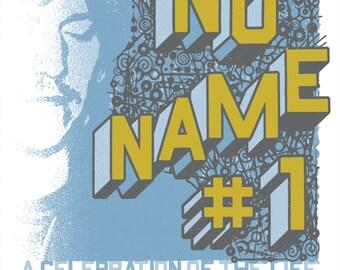 PORTLAND No Name #1 Elliott Smith silkscreened poster, limited-edition.