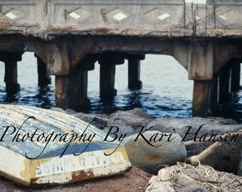 Fine Art Photography Calm Beach Boat Nautical Tranquility Pier Boat Sand Abandoned Boat Color Photography