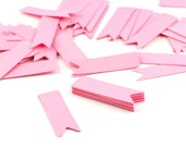 50 Petite Flag Pennants - Your Choice of Color - Perfect for cupcake toppers, tags and mini banners 1/2 x 1-3/4 Inch
