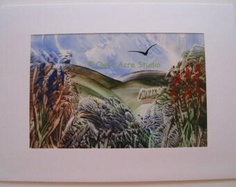 Encaustic Greetings Card - Landscape 002