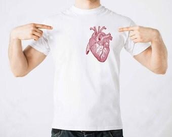 Vintage Anatomy Heart  Stylish T shirt 100% Cotton Gift T shirt