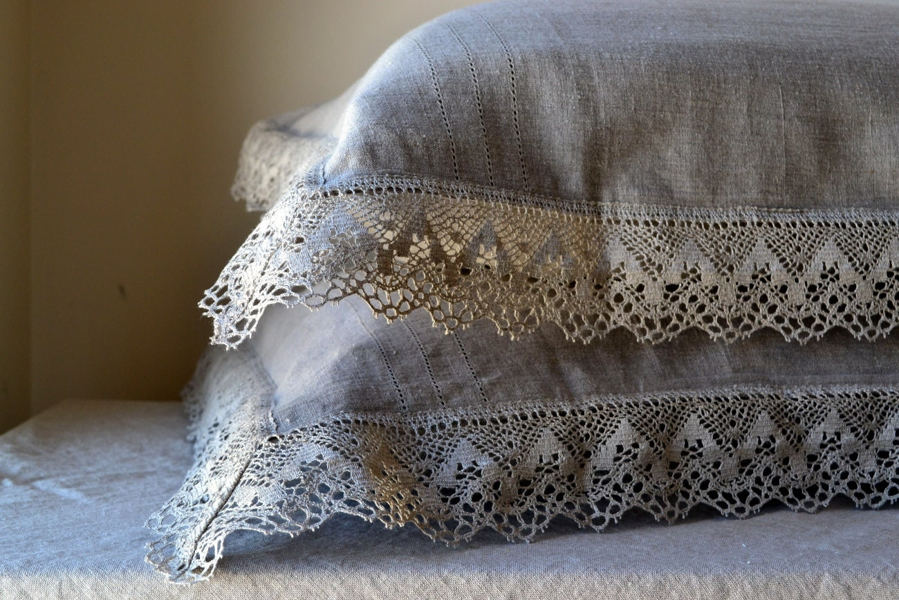 Natural Softened Linen Pillow Case Provincial