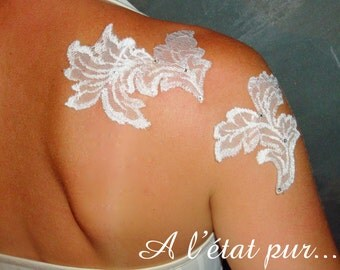 Jewels of white lace skin (2 pieces)