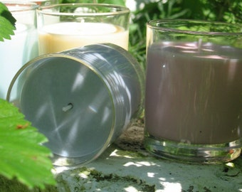 "Soy wax scented candle in a glass jar 200 ml ""Apple Cider - Apple punch"""