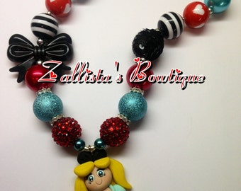 Alice in Wonderland Necklace inspired Ready to Ship