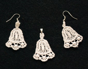 Lace set - earrings and pendant
