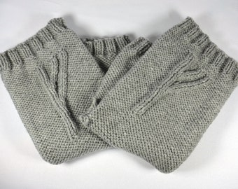 Grey Wizard Gloves, a pair of fingerless gloves marked with a wizard's rune