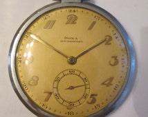 Vintage DOXA LOCLE antimagnetique pocket watch swiss made 15 jewels