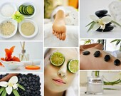 Spa Massage & Facial Collage Image