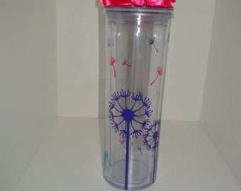 Dandelion themed - 17 oz tall tumbler
