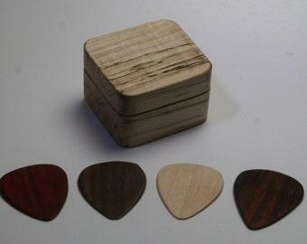 handcrafted guitar pick storage box and wooden pick set by debandf. Black Bedroom Furniture Sets. Home Design Ideas