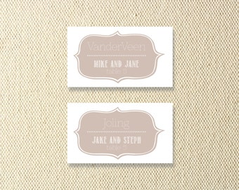 Printable Vintage Wedding Place Cards
