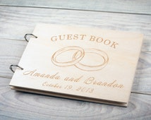 Wedding Guestbook, Wood Guest Book, Date And Names, Custom Design, Guest Book