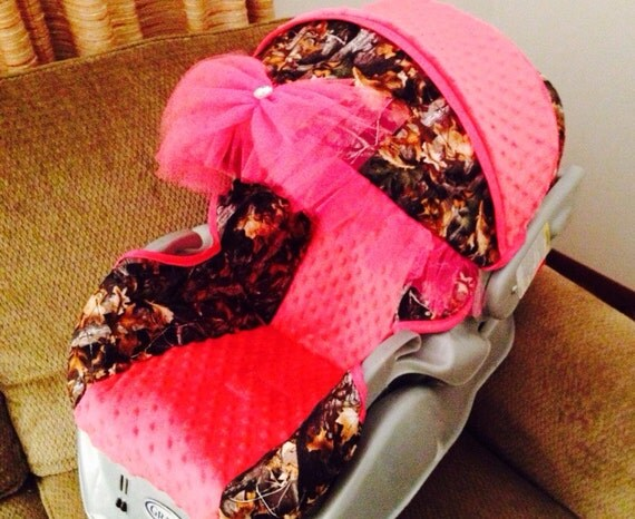 Items Similar To Custom Baby Girl Camo Carseat Cover On Etsy