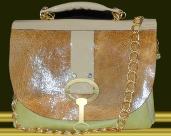 "Leather handbag BERDE""Exclusiv. Handmade."
