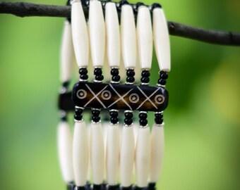 Unique White 6-Strand Bracelet from Kenya