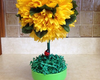 Topiary,Spring Topiary, Floral Topiary, Handmade Spring Topiary, Handmade Floral Topiary, Mothers Day Gifts