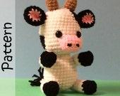 Cali the Cow Pattern Crochet Amigurumi PDF