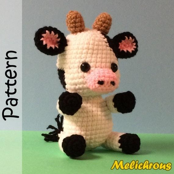 Amigurumi Crochet Pattern Cow : Cali the Cow Pattern Crochet Amigurumi PDF