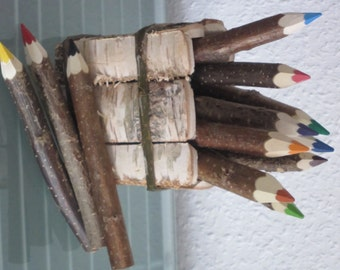 12 thick crayons crayons crayons pencils wood natural wood