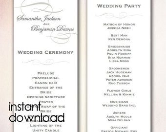 Polskisport | Pictures of Free One Page Wedding Program Templates ...