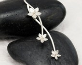 Sterling Silver Handmade Necklace, Flower Silver Jewelry