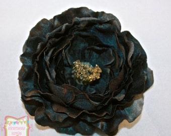 """4"""" Black Ruffled Flower"""