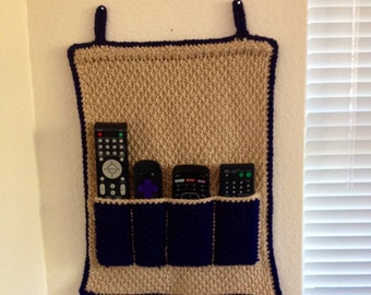 Crochet Remote Control Holder