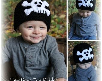 Crocheted Skull Beanie
