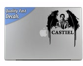 Castiel Angel Supernatural inspired Laptop or MacBook Decal Sticker Car Auto Wall or any smooth surface