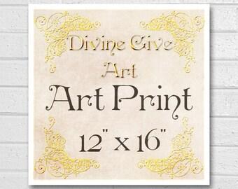 Digital Art Print 12x16 - Printable wall decor, Art print, made to match all my designs