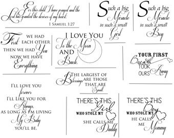 Newborn Artful Words Overlays- SET OF 10